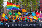 COC Nederland boat at the Amsterdam Canal Parade 2014 — Stock fotografie