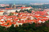 Aerial view over Prague Castle in Prague, Czech Republic — Stock Photo