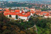 Aerial view over Strahov Monastery in Prague, Czech Republic — Stock Photo