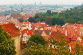 Vista aérea sobre Old Town en Praga, República Checa — Foto de Stock