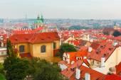 Letecký pohled na staré město v Praze, Česká republika — Stock fotografie