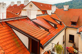 Red tiled roofs in Lesser Town, Prague, Czech Republic — Stock Photo