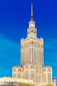 Palace of Culture and Science in Warsaw city downtown, Poland. — Stock Photo