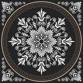Vector seamless vintage white Greek ornament (Meander) — Stock Vector