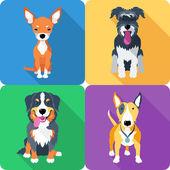 Dog icon flat design — Stock Vector