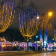 Christmas  market on the Champs Elysees in Paris at night — Stock Photo #64097259