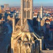 Aerial view of Ghent from Belfry, Belgium. — Stock Photo #65179893
