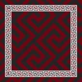 Vector seamless Greek ornament, Meander — Stockvektor