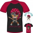 Vector T-shirt with Rottweiler dog pirate — Stock Vector #66233419
