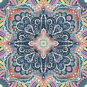 Vector seamless varicolored pattern of spirals, swirls, chains — Stock Vector