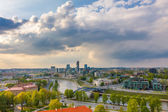 Cityscape of Vilnius, Lithuania. View from the Gediminas Tower. — Stock Photo
