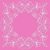 らせん、渦巻きと花のベクトル落書きパターン — ストックベクタ