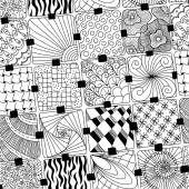 Vector doodles pattern zentangle — Stock Vector