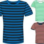 Vector Mens short sleeve t-shirt design templates — Stock Vector #68768119