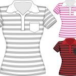 Vector womens short sleeve t-shirt design templates — Stock Vector #68782609