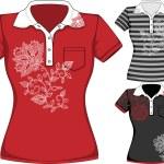Vector womens short sleeve t-shirt design templates — Stock Vector #68859821
