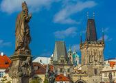 Adalbert of Prague on Charles Bridge, Czechia — Stock Photo