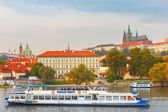 Tourist boat in Prague, Czech Republic — Stock Photo