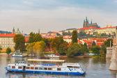 Tourist boat in Prague, Czech Republic — Stock Photo