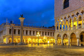 San Marco square at night. Venice, Italy — Stock Photo