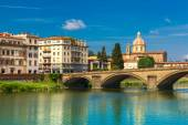 Quay of the river Arno in Florence, Italy — ストック写真