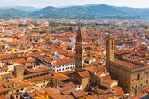 City rooftops and Bargello in Florence, Italy — Стоковое фото