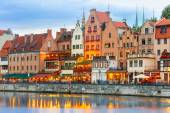 Old Town and Motlawa River in Gdansk, Poland — Stock Photo