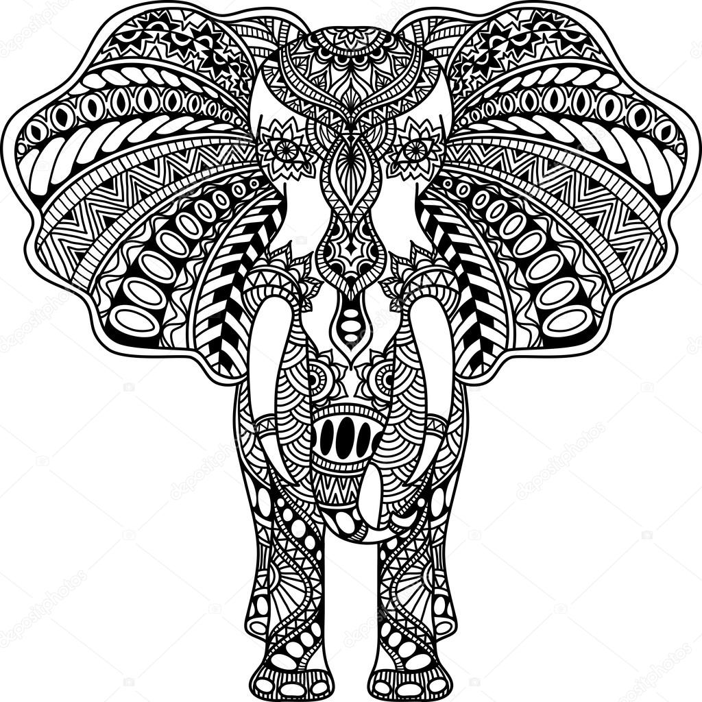 Vector Henna Mehndi D 233 Cor 233 233 L 233 Phant Indien Image