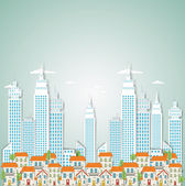 Abstract city background — Vetor de Stock