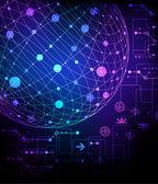 Technologische achtergrond — Stockvector