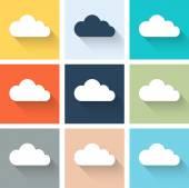 Set of retro cloud icons. — Stock Vector