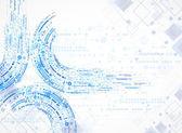 Sfondo modello tecnologia — Vettoriale Stock
