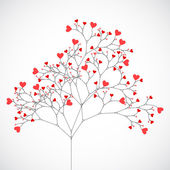 Tree made with hearts. — Stock Vector
