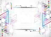 Abstraktní technolgií trojúhelník. — Stock vektor