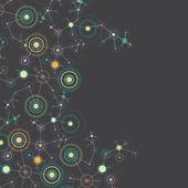 Abstract cogwheel technology net background.  — Stock Vector