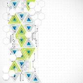 Technologie abstraite triangle fond. — Vecteur