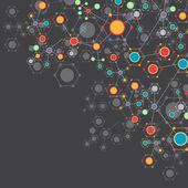 Color technology communication background — Stockvektor