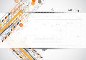 Abstract background with various technological elements — Stockvector