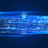 Abstract future technology background — Vector de stock