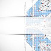 Niebieski streszczenie technologia tło biznes — Wektor stockowy