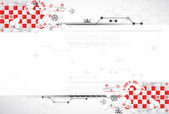 Abstract technology background with red elements — Stock Vector