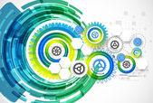 Abstrakt-Technologie-Business-Vorlage-Hintergrund. — Stockvektor