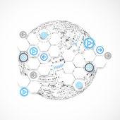 Глобус фон абстрактный технологии. — Cтоковый вектор