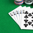 A royal flush poker hand — Stock Photo #69370221