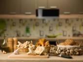 Mushroom meal — Stock Photo
