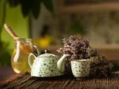 Medicinal herbal hot tea — Stock Photo