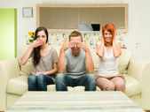 See no evil, hear no evil, speak no evil — Stock Photo