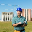 Inpection building in construction — Stock Photo #54884729