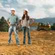 Colleagues on construction site — Stock Photo #54885431