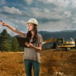 Female engineer on construction site — Stock Photo #54885509
